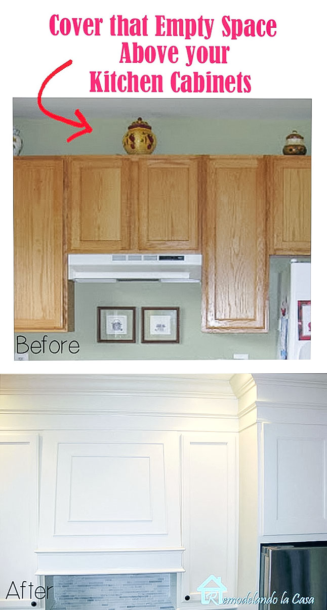 How to build the cabinets up to the ceiling