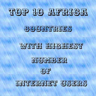 Top 10 Africa countries with highest number of internet user, Top 10 Africa countries with many Facebook users, top 10 Africa countries with many Twitter users