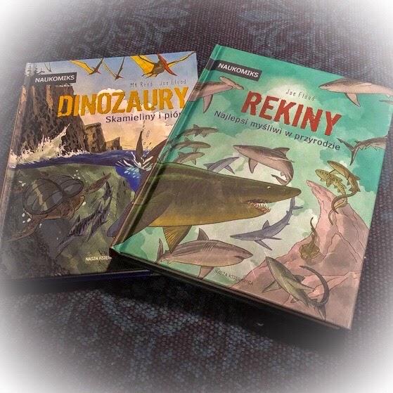 """""""Rekiny. Najlepsi myśliwi w przyrodzie"""" i """"Dinozaury. Skamieliny i pióra"""", czyli komiksy w służbie nauki"""