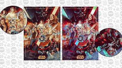 "San Diego Comic-Con 2020 Exclusive Star Wars ""The Ways of the Force"" Screen Print by Martin Ansin x Mondo"