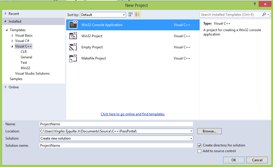 To create a makefile project in Visual Studio 2019. From the Visual Studio main menu, choose File > New > Project and type