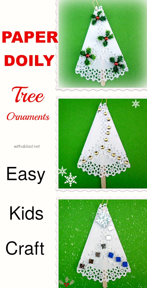 Christmas Craft Ideas With Paper Doilies : Paper doily tree ornaments