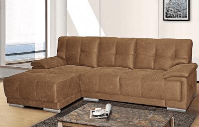Tyrus Modern Brown Fabric Sectional Sofa Furniture