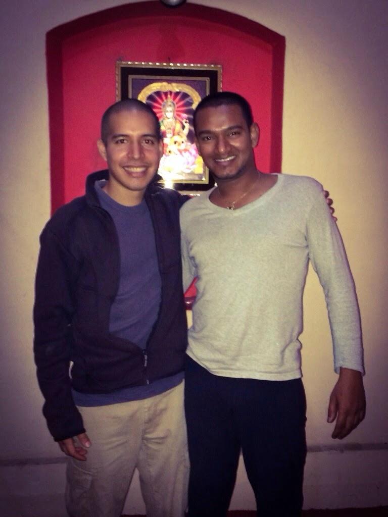 Marco Pino with Ajay Kumar