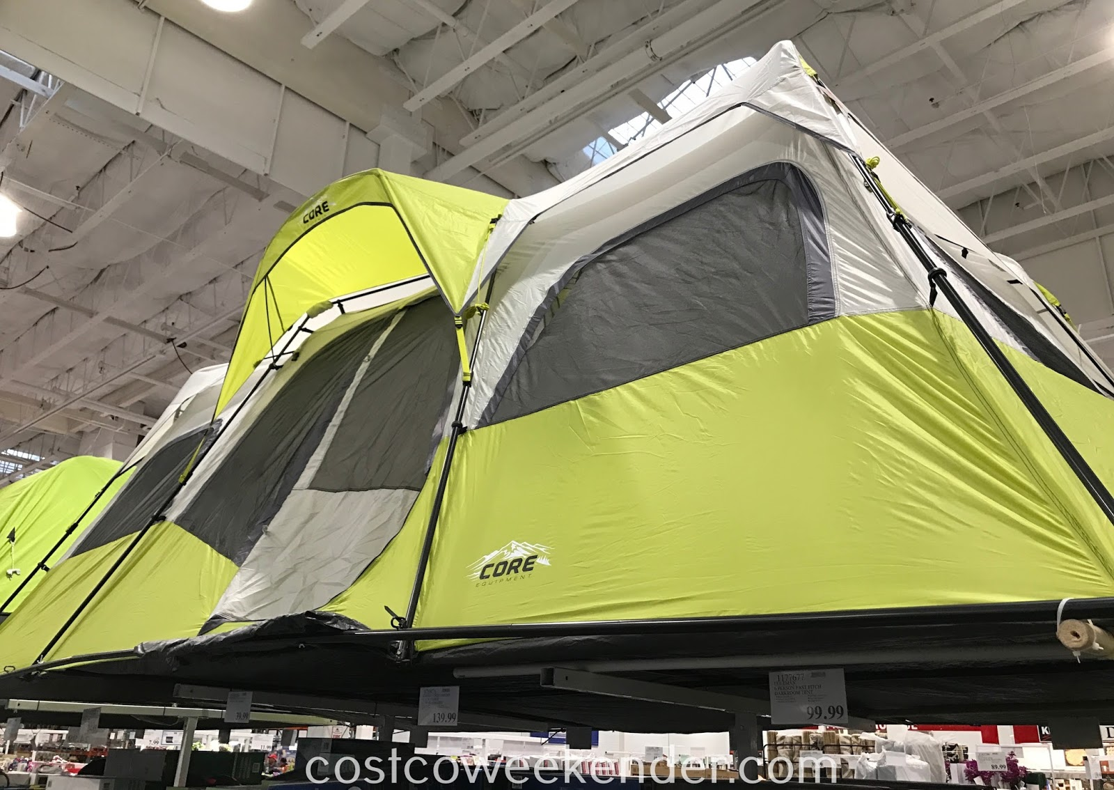 Go camping with a bunch of friends with the Core 12 Person Instant Cabin Tent