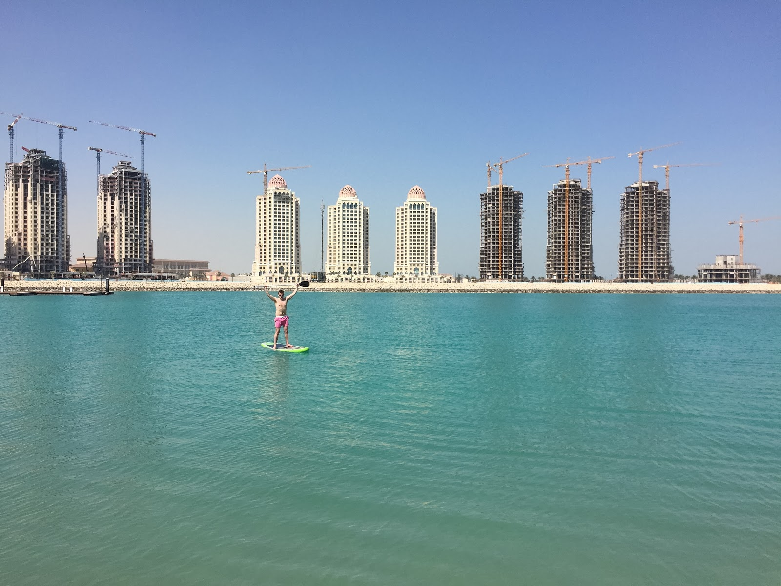 Visiting Qatar: Paddleboarding The Pearl Doha