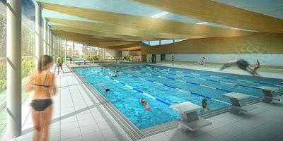 Perspective 3d concours piscine bassin sportif