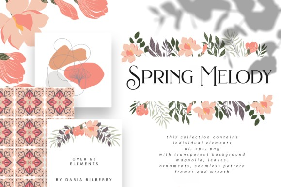 Spring Melody Graphics Collection