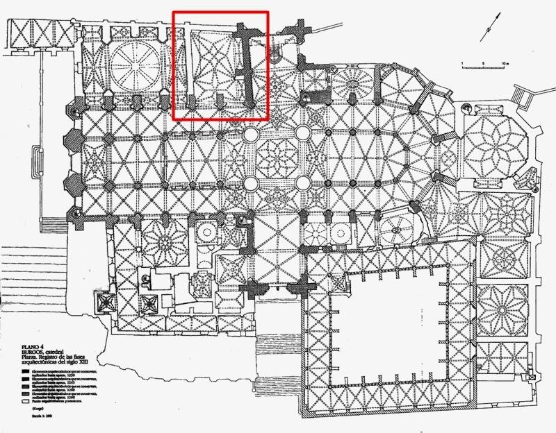 Plano cubiertas catedral de Burgos