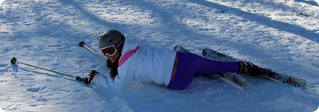Tombo Esquiando na Estação de Ski Aspen Snowmass