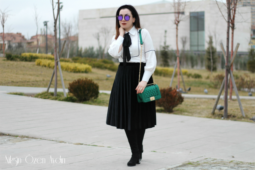 alışveriş-Yeşil Metalik Çanta-moda blogu