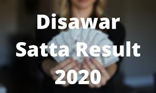 Satta Disawar Satta King Result 2020