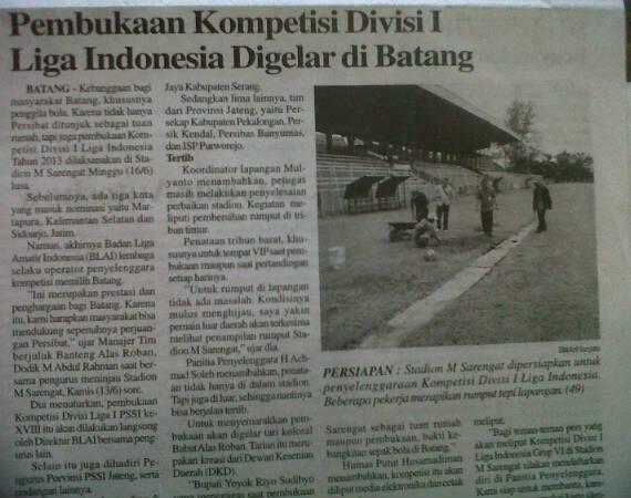 Batang Tuan Rumah Kompetisi Liga Indonesia
