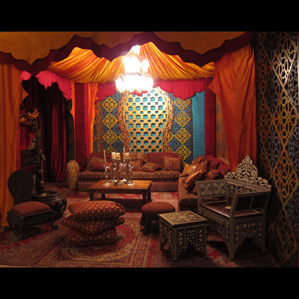 Eye for design decorating moroccan style elegant and - Moroccan themed living room ideas ...