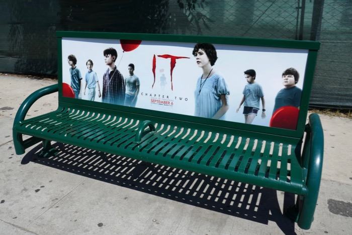 IT Chapter Two movie bench ad