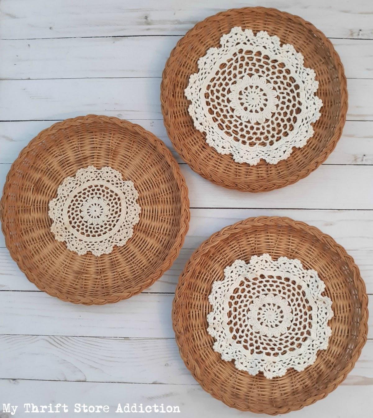 boho wall baskets