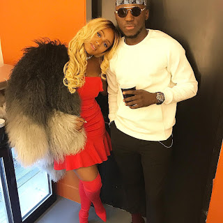 "wp 1506435176990 - ENTERTAINMENT: ""Mr And Mrs"" – Dj Cuppy in Adorable Picture With Spinall"