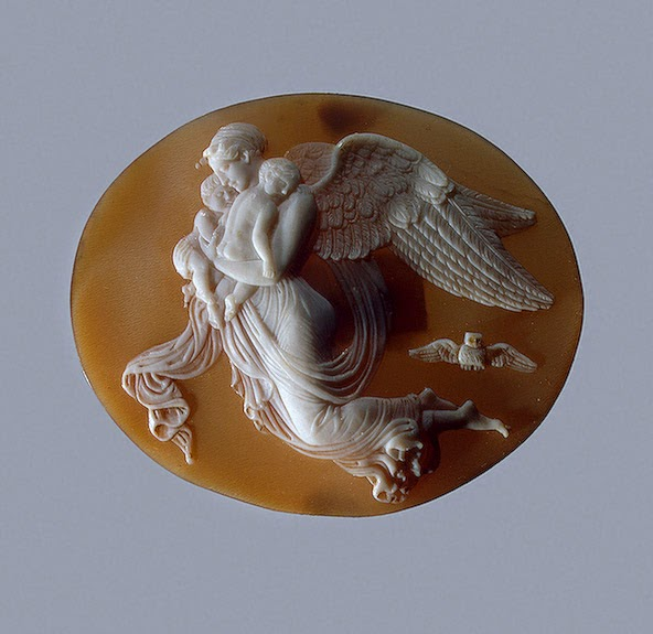 Allegory of the Night, After the relief by Bertel Thorwaldsen   Artist unknown, Italy, 1830s-1840s Shell; cameo Hermitage Museum, St. Petersburg