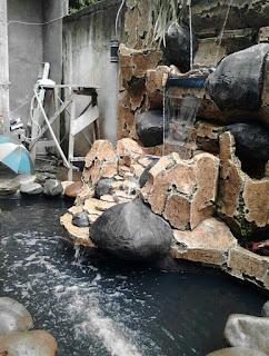 Jasa pembuatan kolam hias air terjun relif air mancur buatan