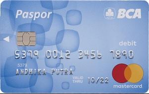 Kartu ATM BCA Paspor blue MasterCard