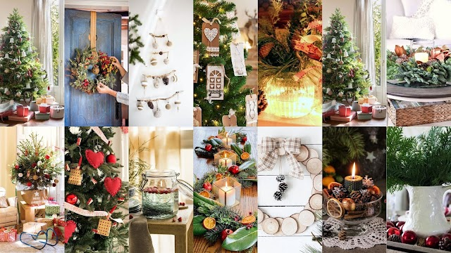 Συνολική πρόταση Χριστουγεννιάτικου Στολισμού με φυσικά στοιχεία