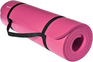 AmazonBasics 13mm Extra Thick Yoga and Exercise Mat with Carrying