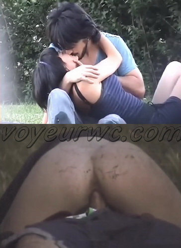 Day Watching 22-23 (Voyeur sex in public place young lovers romantic spot hidden camera)