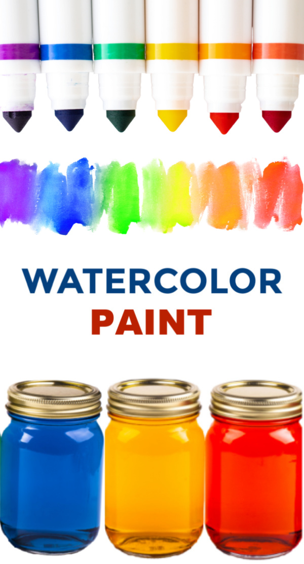 Get more use out of those markers and turn them into paint! #homemadewatercolorpaint #washablepaintforkids #watercolorart #growingajeweledrose #activitiesforkids