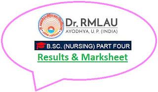 RMLAU B.Sc Nursing Part 4 Result 2021