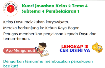 Kunci Jawaban Kelas 2 Tema 4 Subtema 4 Pembelajaran 1 www.simplenews.me