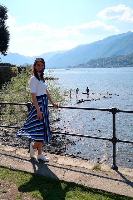 lago di como italia a golpe de objetivo