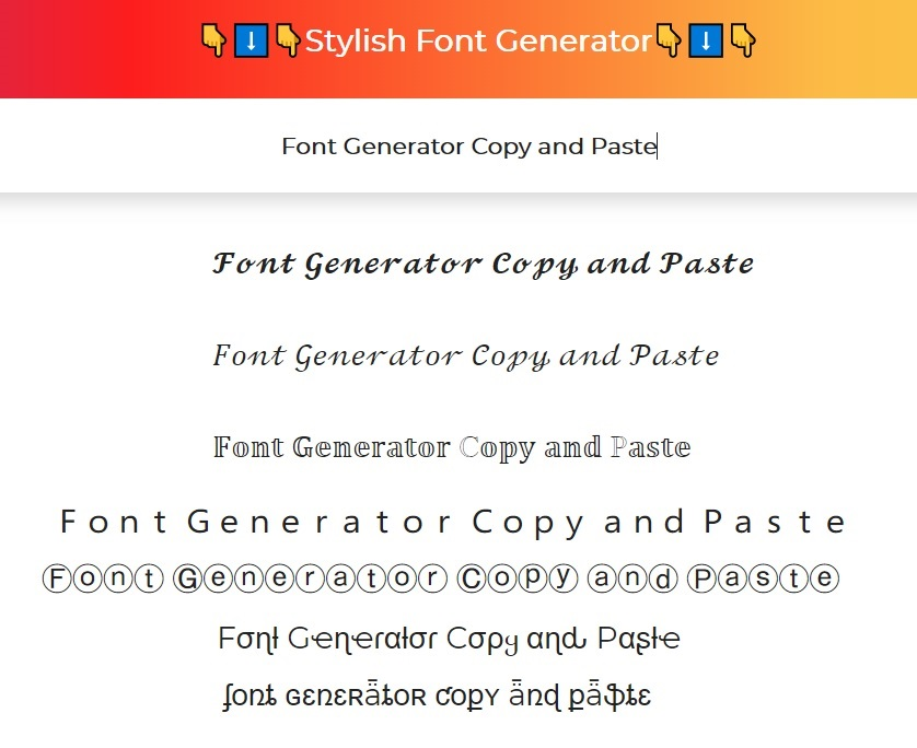 Font Generator Copy and Paste