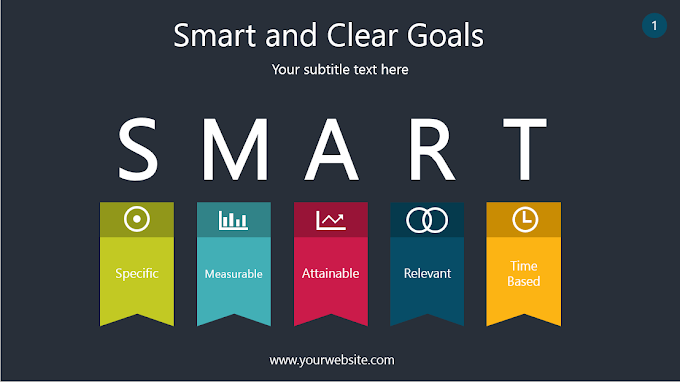 Smart and Clear Goals PowerPoint Template