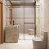 Lavabo com toalheiro de metal dourado: funcional e decorativo!