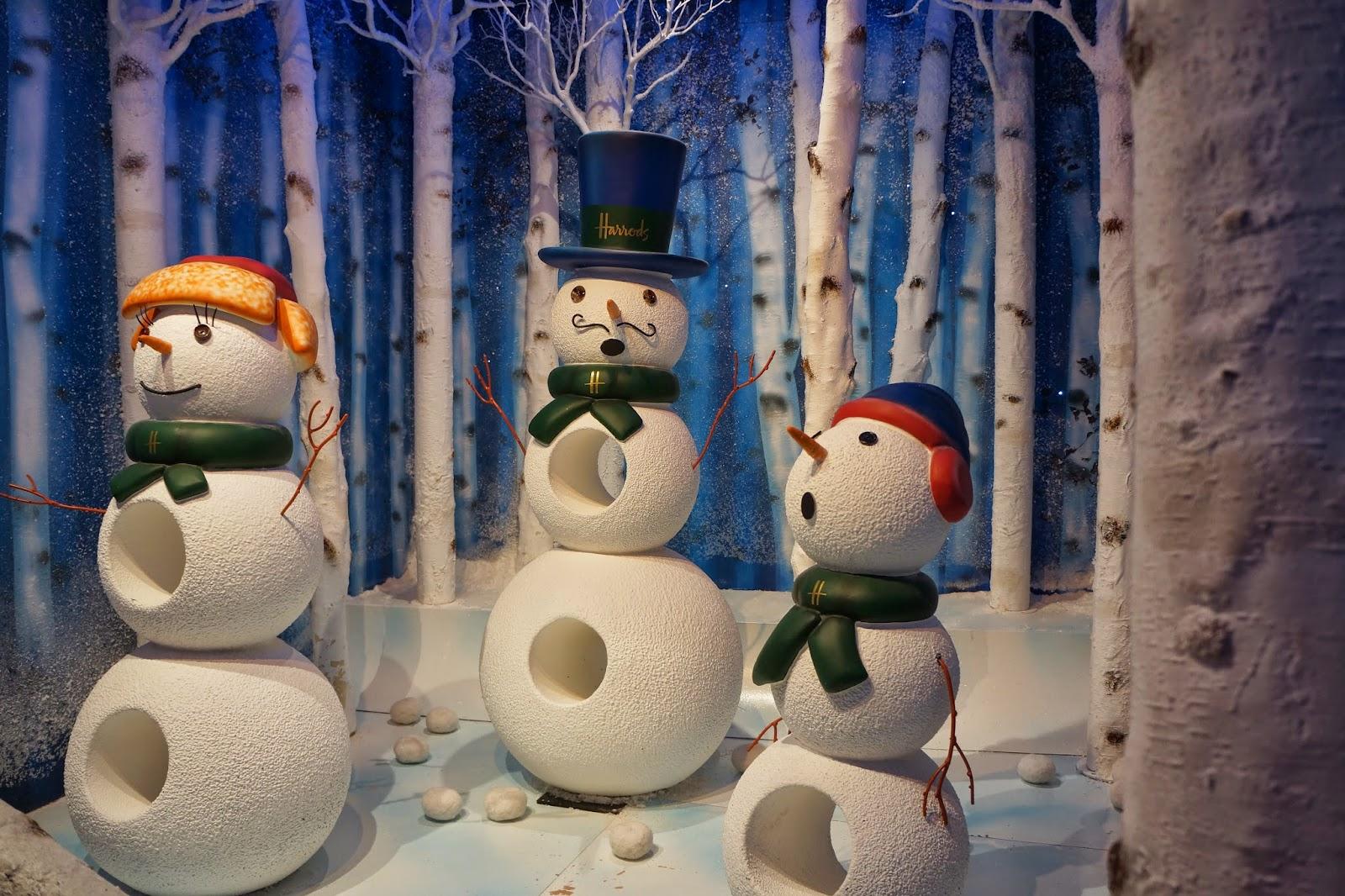 harrods christmas santa's grotto 2014 snowman snowmen