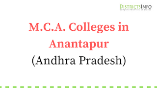 M.C.A. Colleges in Anantapur, Andhra Pradesh