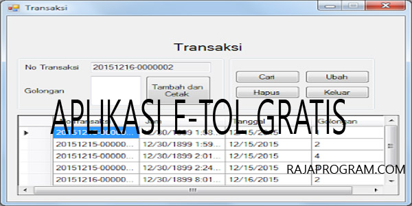 Aplikasi Struk E-Toll Gratis