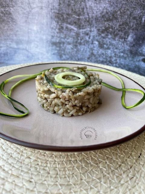 Risotto champignons courgettes aubergine - Repas joker - Monsieur Cuisine Connect