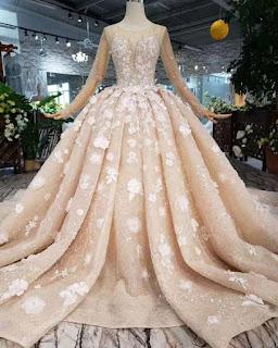 مجموعة من فساتين الزفاف والسورايه بالون الشامبين