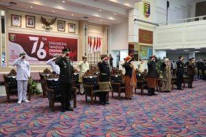 Pimpinan Pemprov Lampung Ikuti Detik-detik Peringatan Proklamasi RI ke-76