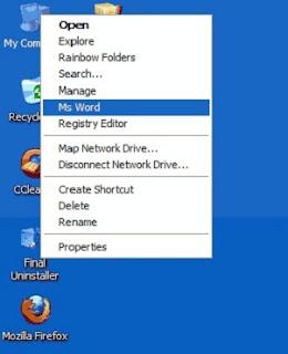 Gambar Cara Menambahkan Ms Word di Klik kanan My Computer