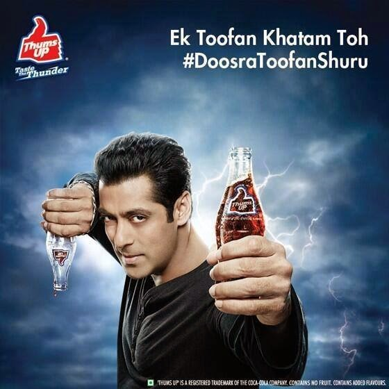Salman Khan's new ad shoot for Thums up