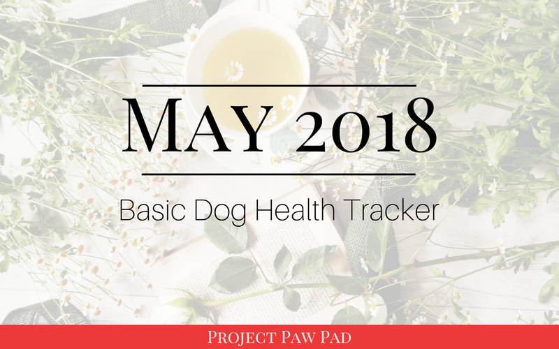 Basic Healthy Dog Tracker for May 2018   Project Paw Pad   healthy dog, dog health, what's wrong with my dog, dog diets, dog preventatives, get organized, organization hacks