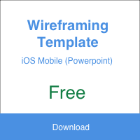 Wireframing Template (iOS)