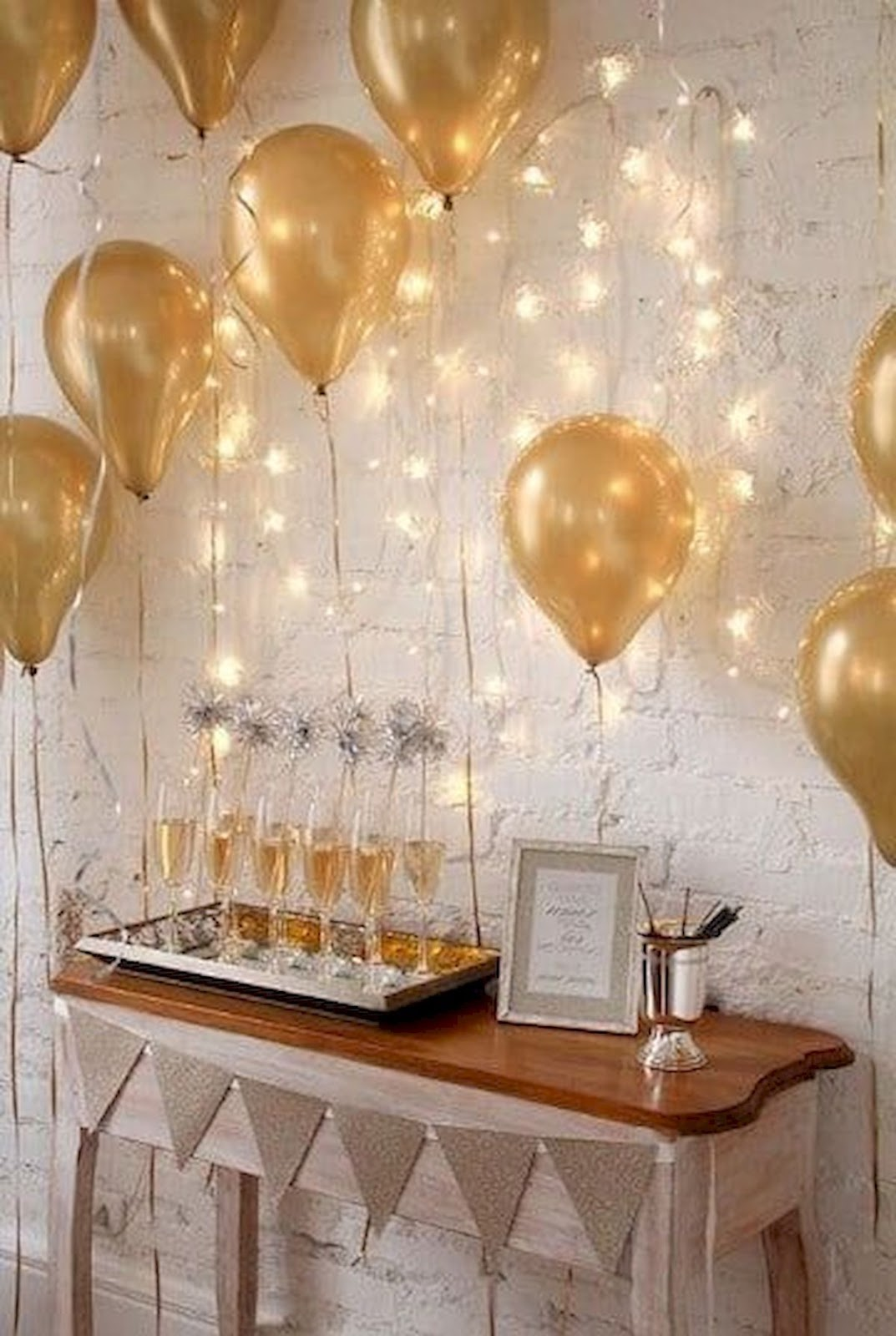 New Year home decoration idea