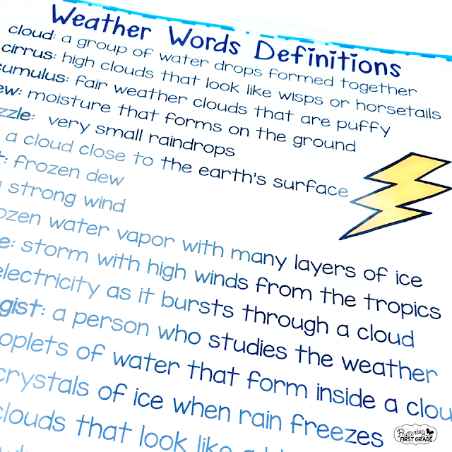 Weather vocabulary activities for the primary classroom. Weather bingo helps build essential science vocabulary through games.