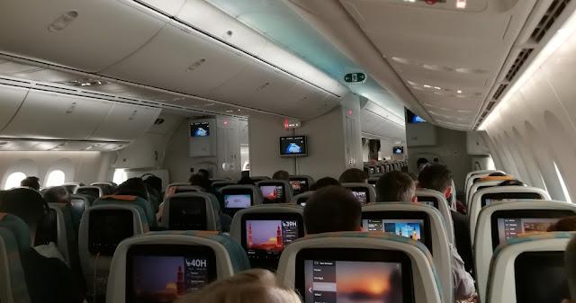 Flug mit Oman Air - Oman Air Dreamliner Economy Class