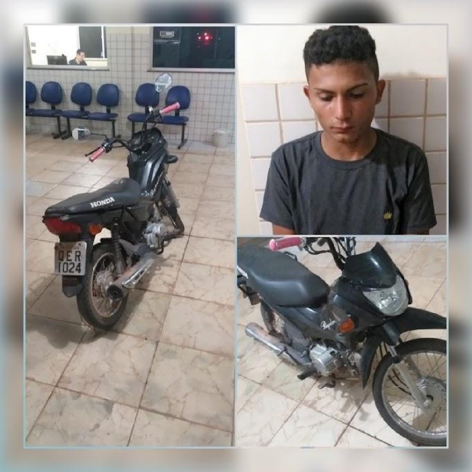 Preso pela PM, Ladrão de moto no distrito de Miritituba