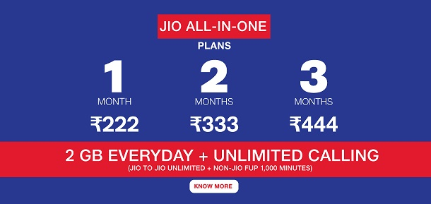jio all in one plan details