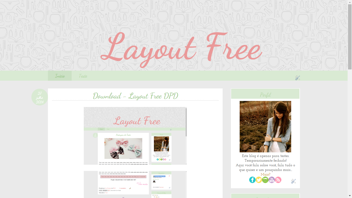 Layouts Free Para Seu Blog Parte 2 Simples Bella